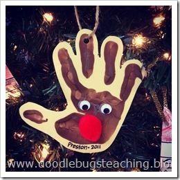 handprint reindeer ornament