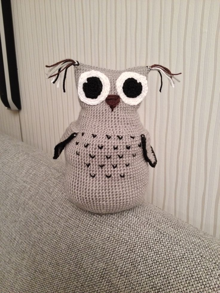 Inspirert av Hilde, hekla Ugla :) #owl
