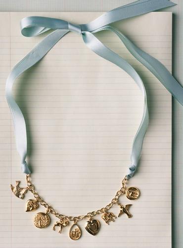 Charm Bracelet to necklace: Vintage Charms Bracelets, Charm Bracelets, Charms Necklaces, Cute Ideas, Diy Vintage Necklaces, Nautical Bracelets, Jewelry, Bracelets Necklaces, Easy Diy