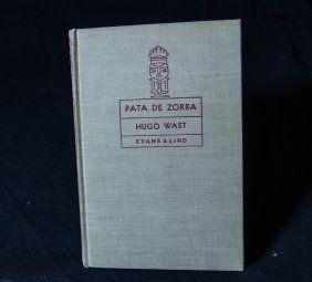 1937 Pata De Zorra Hardcover Book By  Hugo Wast