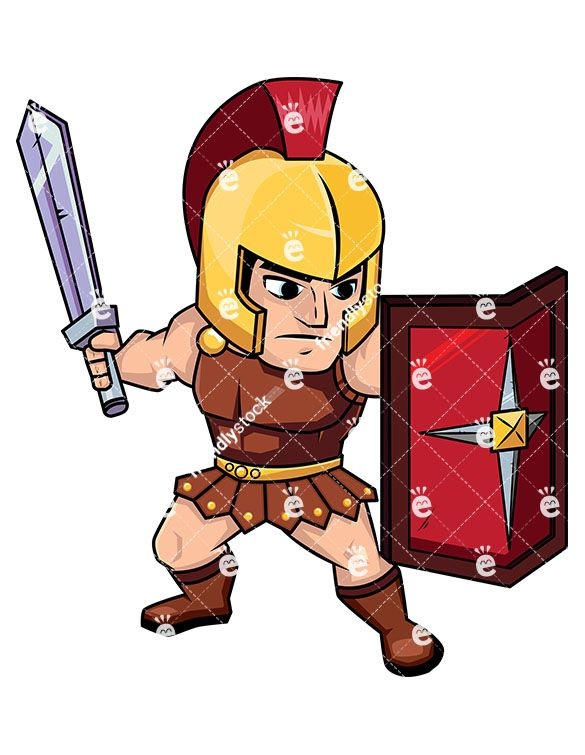 roman soldier on guard with shield cartoon vector clipart wall art rh pinterest com cartoon roman soldier clipart roman soldier armor clipart