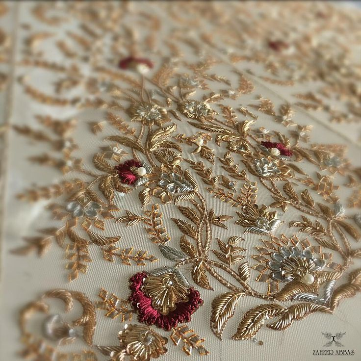 """535 Likes, 8 Comments - Zaheer Abbas (@zaheerabbasofficial) on Instagram: """"details from a customised bridal ! #details #couture #bridalcouture #handembroidery…"""""""