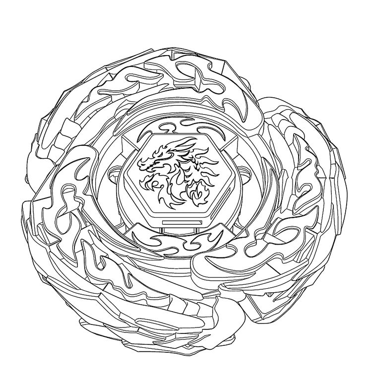 L Drago Beyblade Coloring Sheets