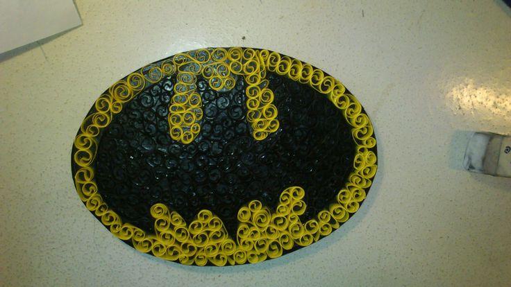 Batman Theme Paper Quilling -Louise Mirabilis