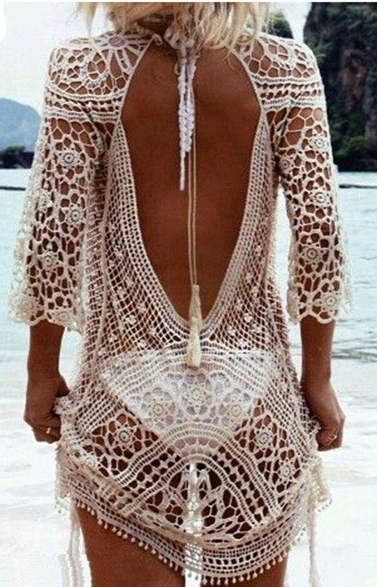 Exotic Beach Kimono / Crochet Swimsuit CoverUp