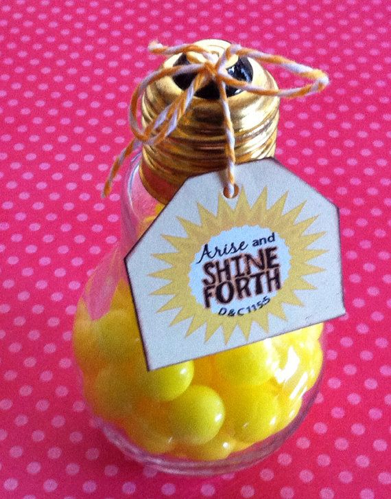 Glass Light Bulb Jar with Tag and Trim by sheiseverything on Etsy, $3.75