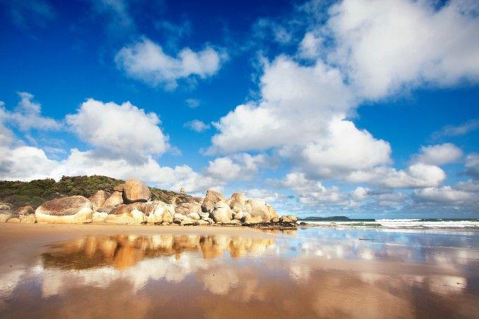 'A Shiny Beach', Whiskey Bay, Wilsons Promontory, Victoria, Australia, by Chris Schoenbohm