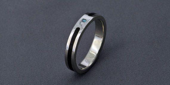 White Gold Engagement Ring wedding ring Diamond by JewelrybyFordos