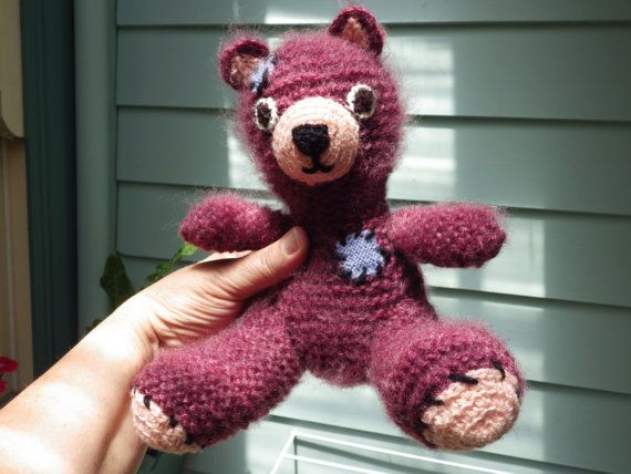 Cute Teddy Bear with decorative patches / by GalinaShawlAndPhoto