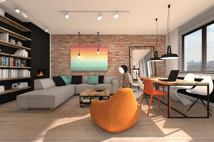 Best Home Interior Design Office Room ~ http://www.lookmyhomes.com/best-home-interior-design-ideas-15-photos-by-loft-in-katowice/