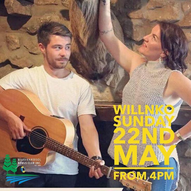 Come down this Sunday and support Willnko as they make their 1st appearance at the Warrnambool Bowls Club. While enjoying some great music take advantage of awesome bar specials which include $4 schooners of beer and cider. If B&C ain't your thing enjoy a coffee and piece of cake for $7. Willnko start playing at 4pm see you all then  #Willnko #warrnamboolbowls #music3280 #sundaysessions3280 #cidersunday #trysomewherenew #live3280 #coffee3280 #wbc3280 by warrnamboolbowls