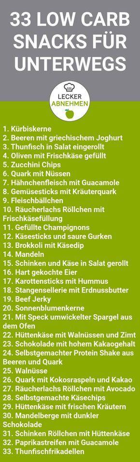 33 gesunde und leckere Low Carb Snacks – Bengt