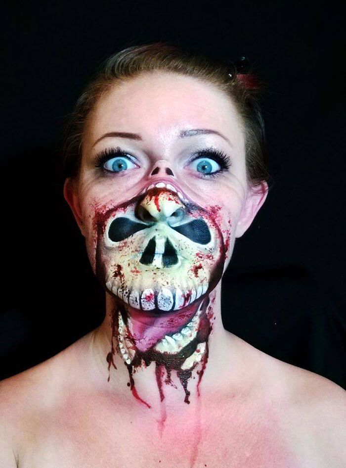 this make up artists creepy halloween masks are a mind blowing treat i love halloween - Scary Faces For Halloween With Makeup