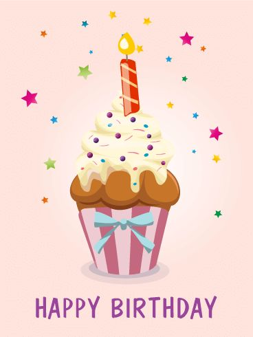 Send Free Birthday Pink Star Cupcake Card to Loved Ones on Birthday & Greeting Cards by Davia. It's 100% free, and you also can use your own customized birthday calendar and birthday reminders.