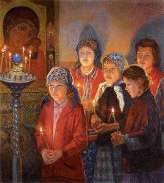 Όταν μητέρες προσφέρουν τὰ βρέφη τους στον Χριστό.