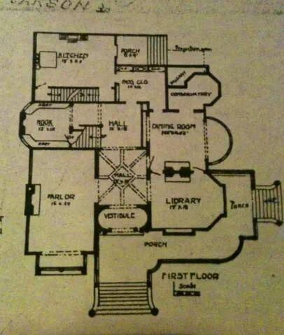 carson mansion california floor plans varied