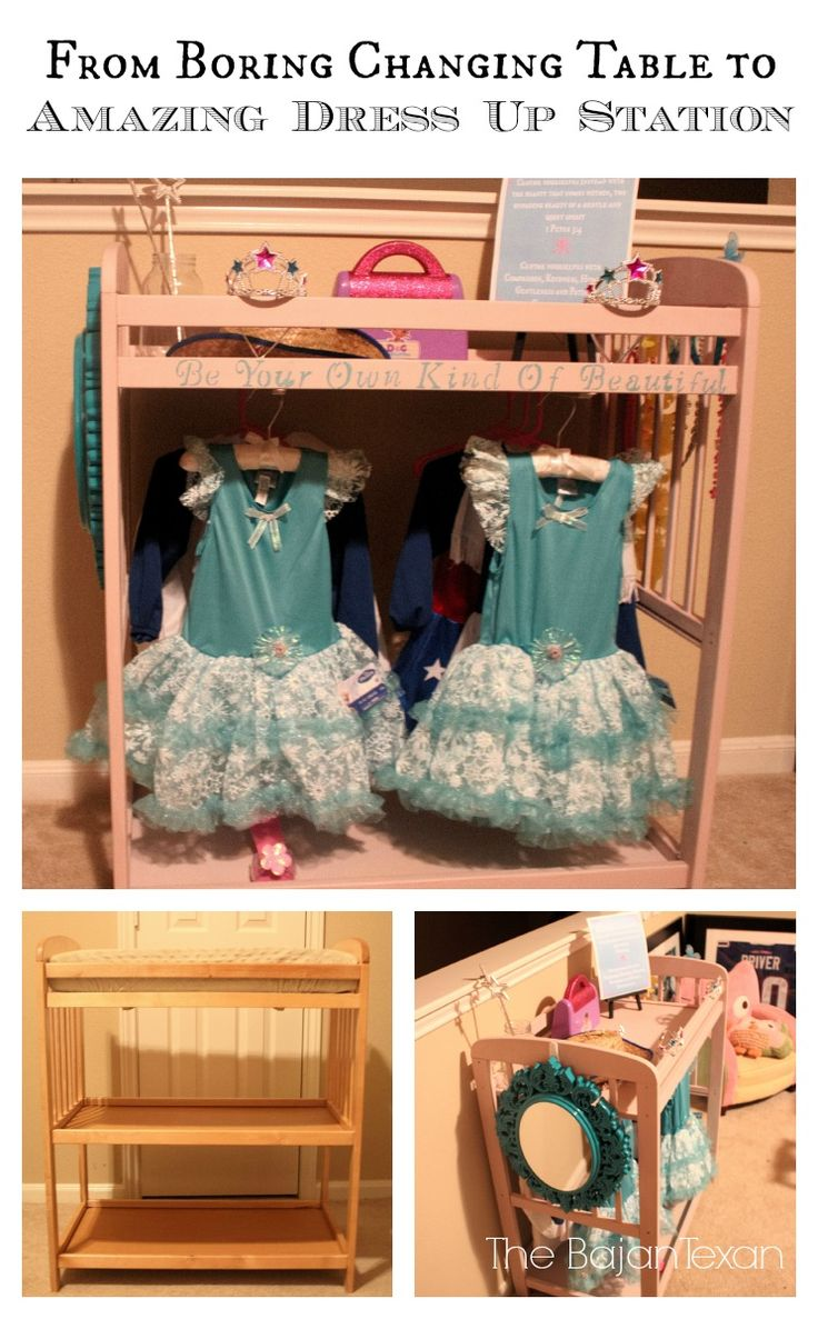 The Bajan Texan: DIY Changing Table to Dress Up Station Video Tutorial
