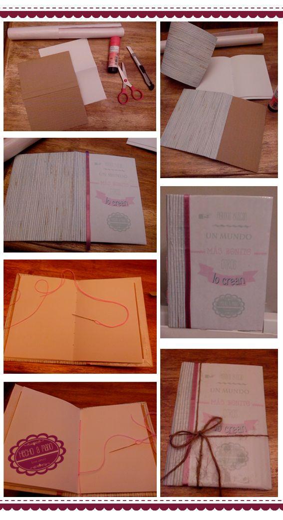 DIY- libreta con cartón