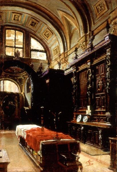 Giovanni Segantini, Interior of Sacristy