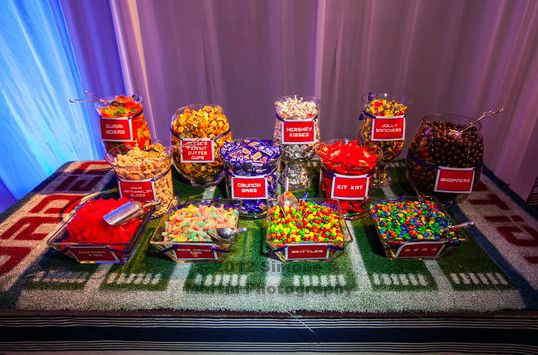 Turf Candy Table Sports Themed Parties Pinterest Bar
