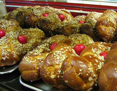 Traditional Greek Easter brioche