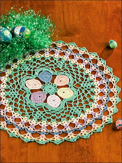easter doily: Easter Pastel, Pastel Doilies, Cakes, Numerals Patterns, Crochet Doilies Patterns, Crochet Doily Patterns