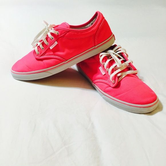 NEON Pink Vans!!! Hot Pink Neon Vans In excellent condition! Only worn a few times! These shoes are Amazing! Size 7.5 Vans Shoes