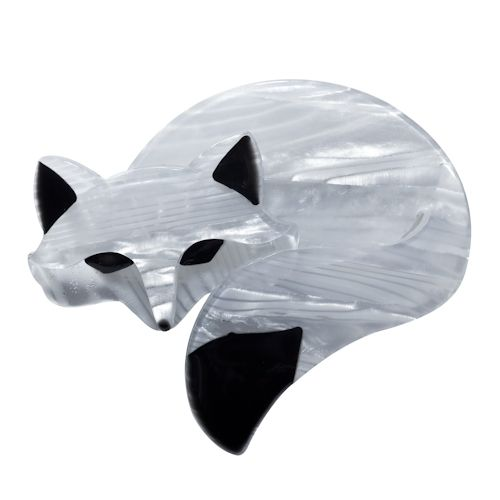 **VERY RARE, LAST ONE!!** Limited edition Erstwilder Saffron the Sleeping Fox brooch by Louisa Camille. $34.95