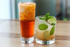 Thai iced tea and Tamarind Mojito #inspiredcocktails