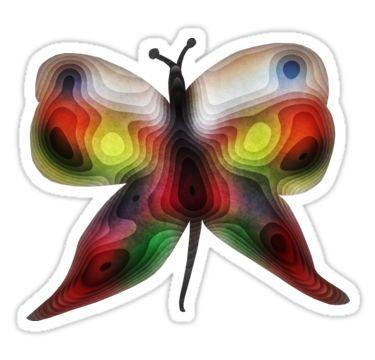 Butterfly Layers Sticker by StickerNuts