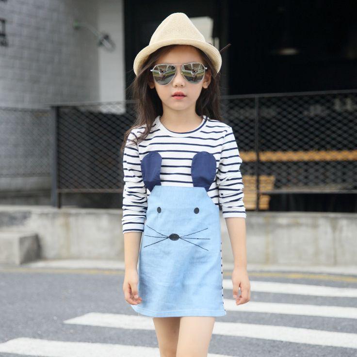 $8.09 (Buy here: https://alitems.com/g/1e8d114494ebda23ff8b16525dc3e8/?i=5&ulp=https%3A%2F%2Fwww.aliexpress.com%2Fitem%2F2016-hot-sale-New-autumn-Children-Clothing-Dresses-Denim-Girls-Dress-mother-daughter-dress-for-girls%2F32691550398.html ) For 2 3 4 5 6 7 years girl strip Dresses Girls Dress long sleeve mouse dress fashion kids girl cloth for just $8.09