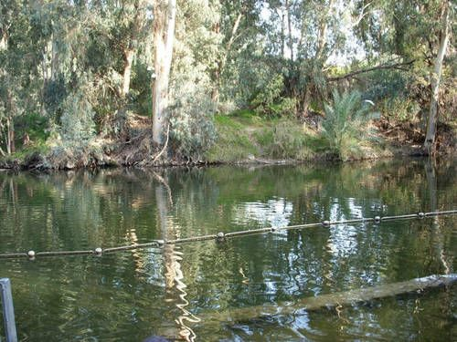 Israel. Jordan River, where Jesus was baptized by John the baptist.