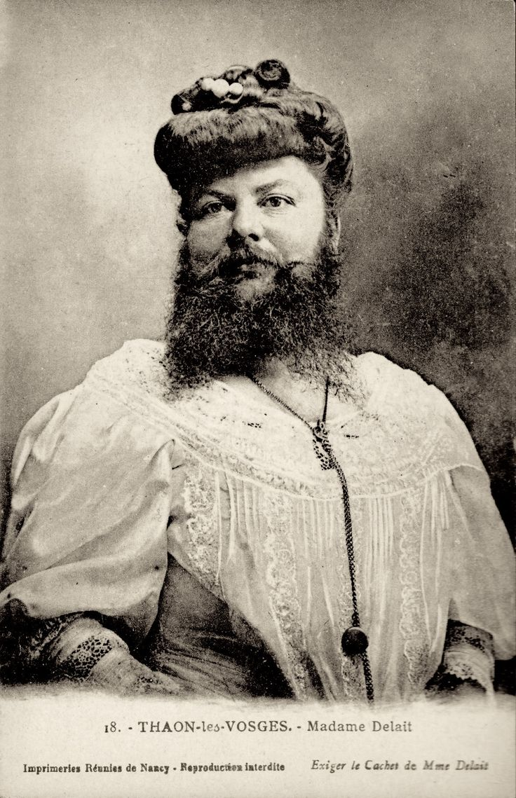 Clémentine Delait (5 March 1865 – 5 April 1939)  a French bearded lady who kept…