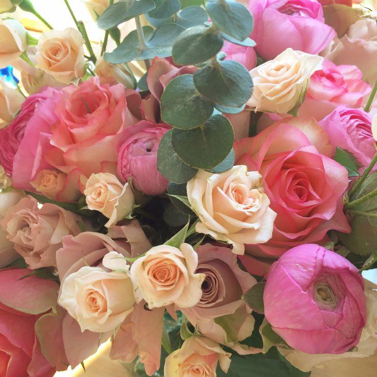 All the pinks! www.theenchantedflower.co.uk