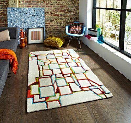 Tappeti economici e moderni Phoenix, design 3D multicolore - 3 formati disponibili: Amazon.it: Casa e cucina