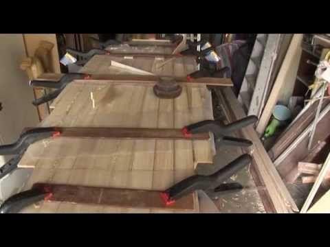 Wood over Foam surfboard