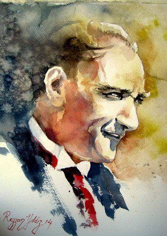 RESSAM REZZAN YILDIZ'DAN SULU BOYA ATATÜRK ÇALIŞMALARI 62 ESER Sevgili sanatçımız Atatürk aşığı Rezzan Yıldız'dan birbirinden güzel ha...
