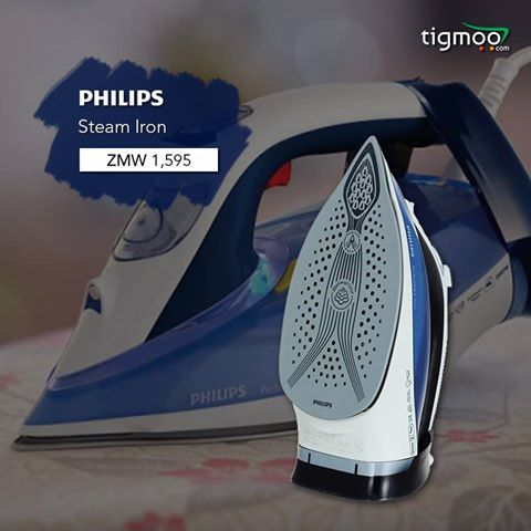 #Philips GC4924 #SteamIron available at tigmoo, price ZMW 1595  Buy now for a #fastdelivery: https://www.tigmoo.com/philips-gc4924-steam-iron.html
