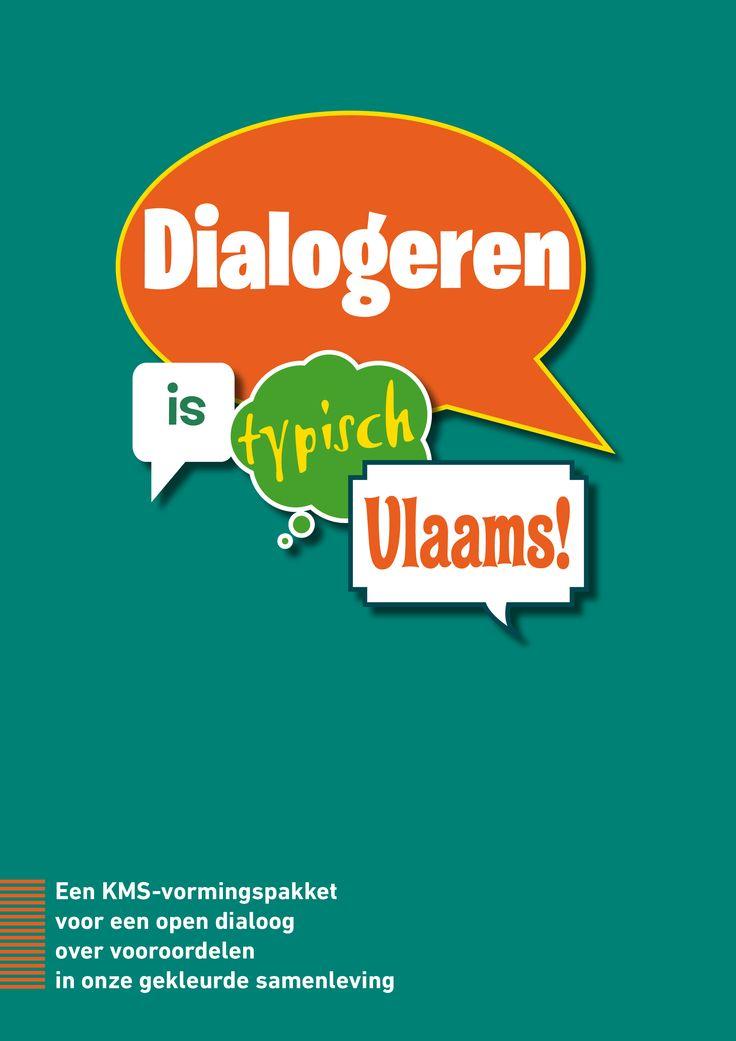 Dialogeren is typisch Vlaams! Een KMS vormingspakket met cartoons voor een open dialoog over vooroordelen in onze gekleurde samenleving.