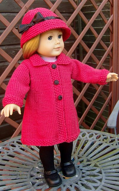 Ravelry: AMERICAN GIRL DOLL TOWN AND COUNTRY COAT SET pattern by Jacqueline Gibb