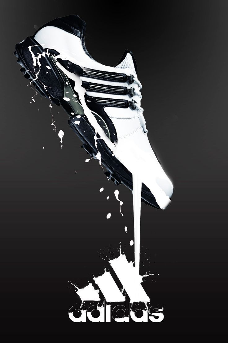 Logo. This advertisement shows football boots by Adidas. It incorporates the Adidas logo into the advertisement at the bottom of the picture.