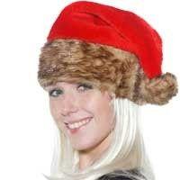 Lekkere warme kerstmuts met een bontrand.