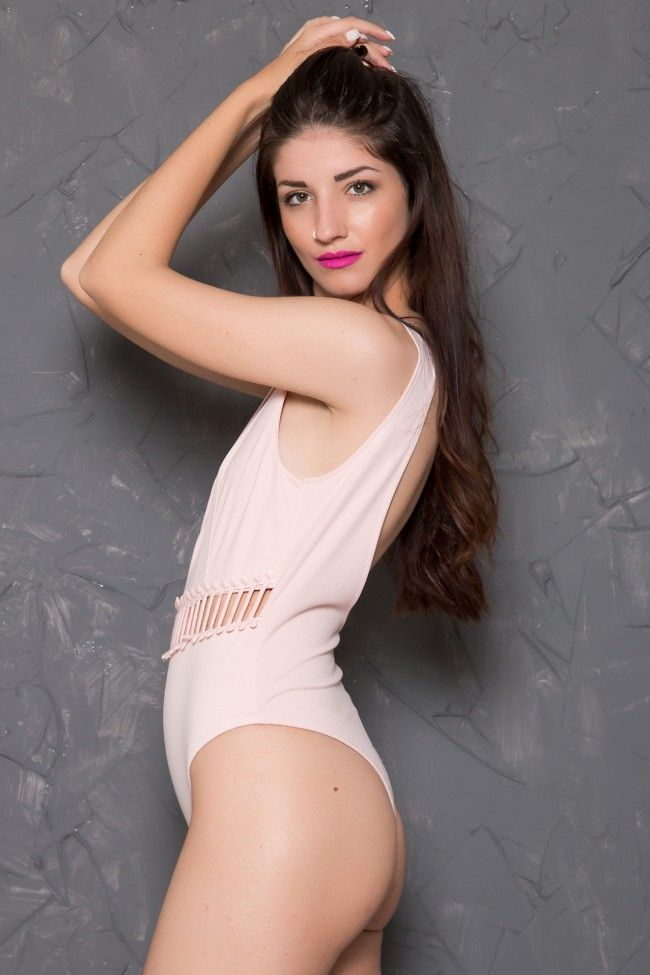 One Piece Pink Swimsuit