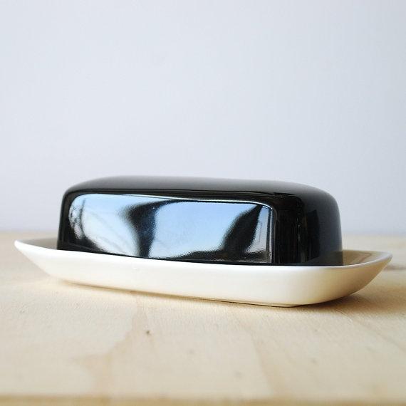 Mikasa Butter Dish Black and White Monochrome Home Mikasa Forecast