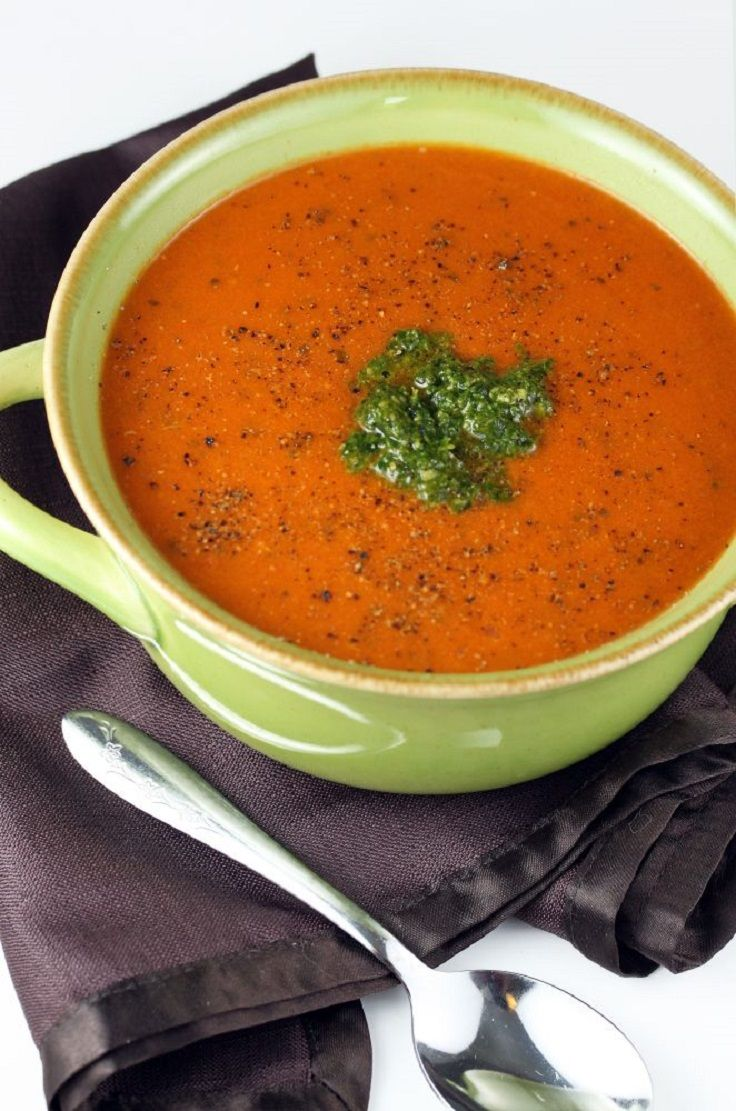 dried tomato basil pesto rich tomato soup with pesto tomato soup pesto ...