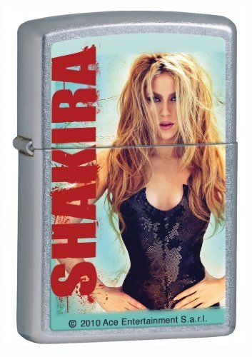 Shakira Zippo Lighter by Zippo. Save 39 Off!. $15.26. Get a Zippo Flip-Top lighter and forget the matches! Zippo lighters are windproof so they stay lit, even in the worst weather! Zippo lighters also make a great gift idea! Lighter is sold empty and fluid is sold separate.
