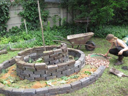 part2 of build my own spiral herb garden