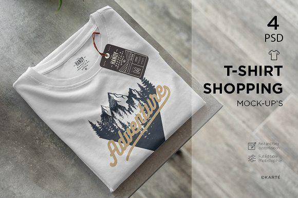 Download T Shirt Shopping Mock Up Shirt Shop Clothing Mockup Mocking