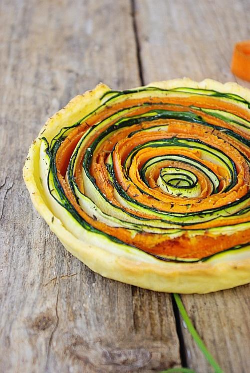 Tartes aux légumes courgettes et carottes