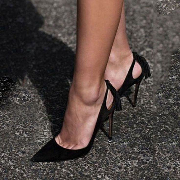 Shoespie Classy Black Pointed Toe Stiletto Heels #stilettoheelsboots #stilettoheelspointed